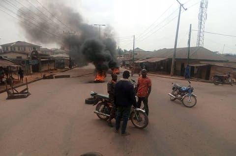 We've Had Enough! Ekiti Community Protests Killing Of Farmers By Suspected Herdsmen