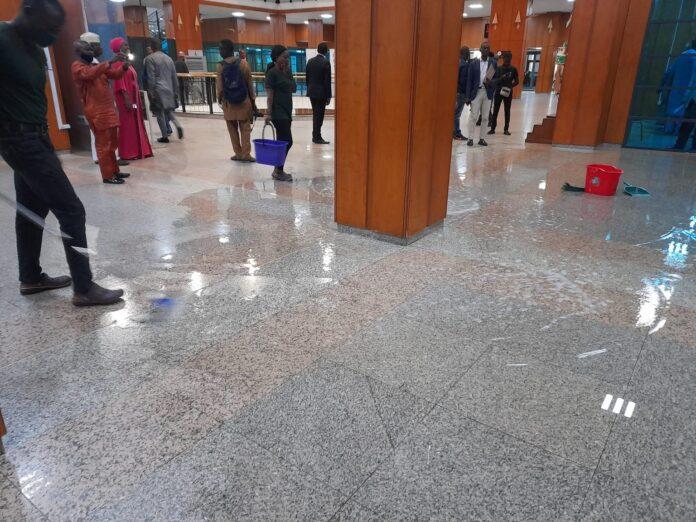 National Shame! Senate resumes plenary in water-logged chambers