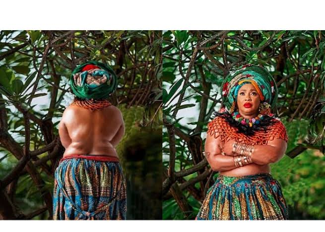 Clarion Chukwurah Goes Topless In New Birthday Photos, Pens Poem About Nigeria (Photos)