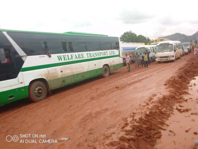 FRSC Issues Traffic Alert As Failed Section Of Omuo-Ekiti-Kabba Road Leads To Congestion