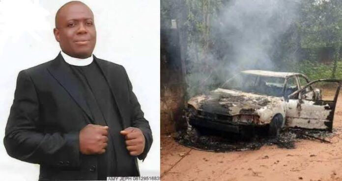 Hoodlums Kill Anglican Priest In Imo, Set His Car Ablaze